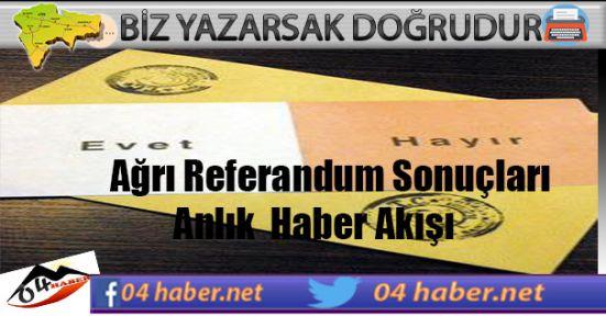 2017 Referandumu Ağrı Seçim Sonuçları
