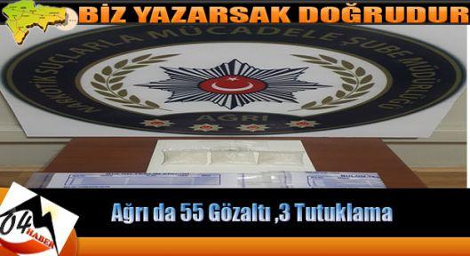 55 Gözaltına 3 Tutuklama Çıktı