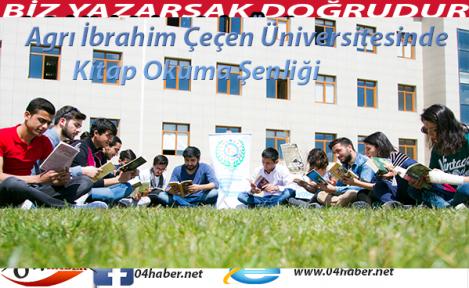 Agrı İbrahim Çeçen Üniversitesinde Kitap Okuma Şenliği