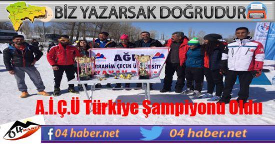 Ağrı Türkiye Şampiyonu Oldu