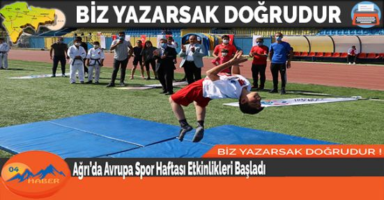 Ağrı'da Avrupa Spor Haftası Etkinlikleri Başladı