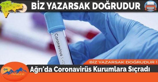 Ağrı'da Coronavirüs Kurumlara Sıçradı
