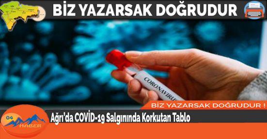 Ağrı'da COVİD-19 Salgınında Korkutan Tablo