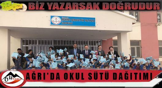 Ağrı'da Okul Sütü Dağıtımı