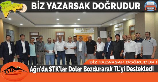 Ağrı'da STK'lar Dolar Bozdurarak TL'yi Destekledi