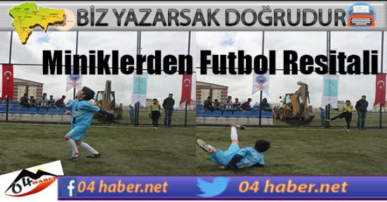 Ağrılı Miniklerden Futbol Resitali