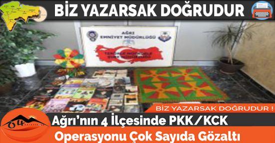 Ağrı'nın 4 İlçesinde PKK/KCK Operasyonu Çok Sayıda Gözaltı