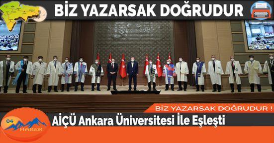 AİÇÜ Ankara Üniversitesi İle Eşleşti