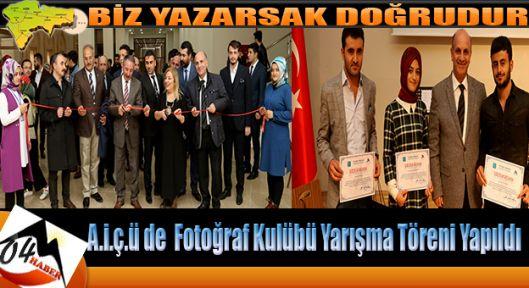 AİÇÜ Video ve Fotoğrafçılık Kulübü Fotoğraf Yarışması Ödül Töreni Yapıldı