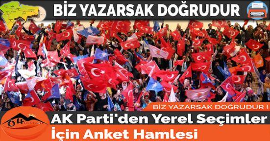AK Parti'den Yerel Seçimler İçin Anket Hamlesi