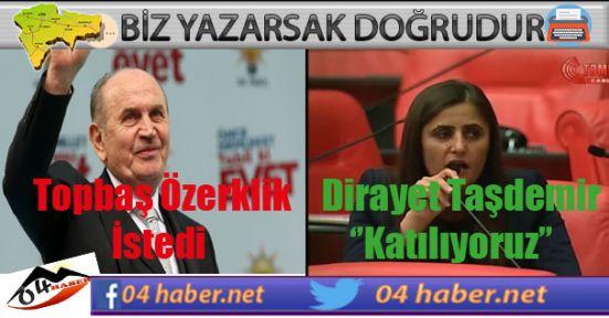 Ak Partili Topbaş'a ,Hdp'li Taşdemir'den Destek