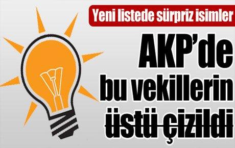 AKP'de bu vekillerin üstü çizilecek