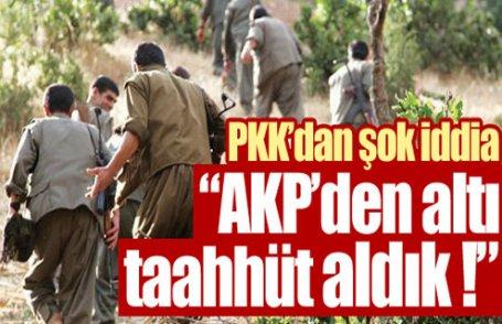 AKP'den altı taahhüt aldık