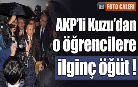 AKP'li Kuzu o öğrencilere öpğüt verdi