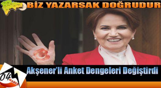 Akşener'li Ankette MHP Dibe Vurdu