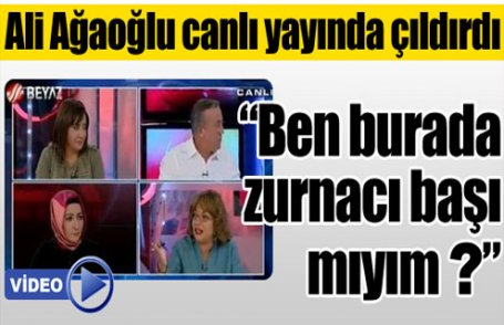 Ali Ağaoğlu canlı yayında çıldırdı (Video)