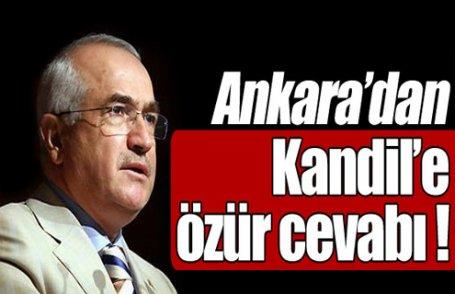 Ankara'dan Kandil'e cevap !