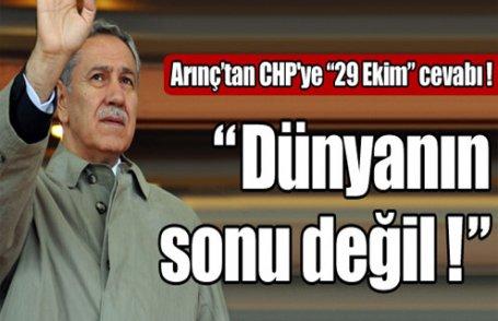 Arınç'tan CHP'ye