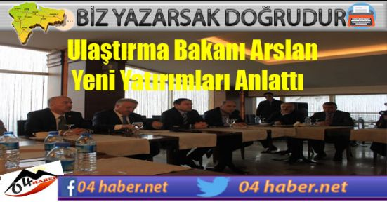 Arslan Gazetecilerle Buluştu
