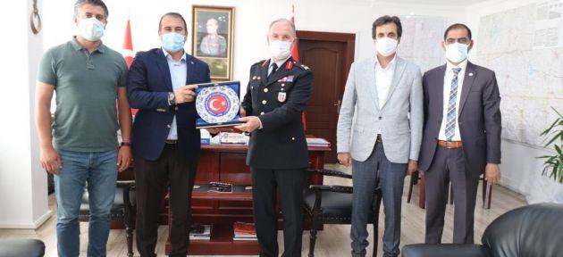 ASKF'den Ağrı Jandarma Komutanlığına Tebrik Ziyareti
