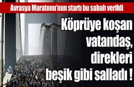 Avrasya Maratonu bu sabah startı verildi