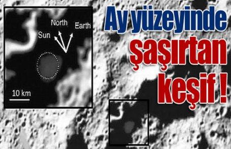Ay yüzeyinde şaşırtan maddeler