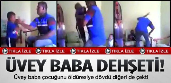 Baba oğlunu öldüresiye dövdü