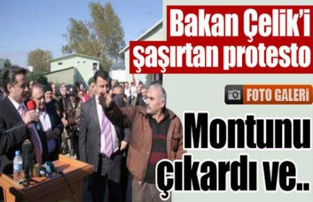 Bakan'ı şaşırtan protesto