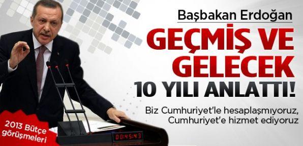Başbakan Erdoğan bütçe görüşmelerinde konuştu