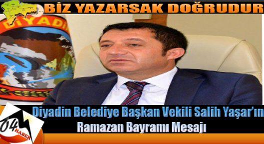 Başkan Salih Yaşar'ın Ramazan Bayramı Mesajı