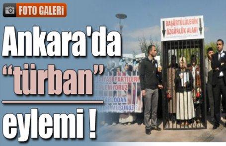 Başkent'te türban eylemi !