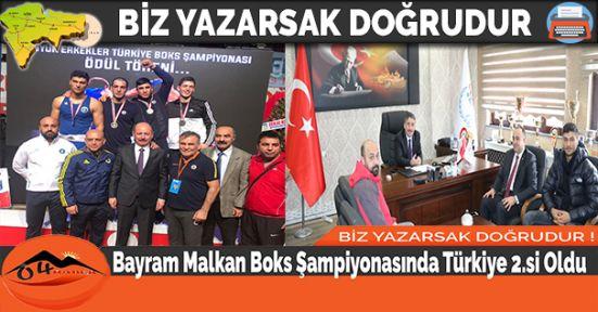 Bayram Malkan Boks Şampiyonasında Türkiye 2.si Oldu