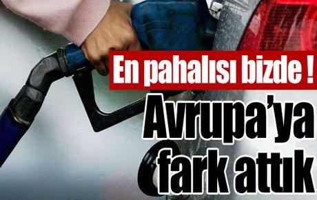 Benzin fiyatlarında Avrupa'ya fark attık