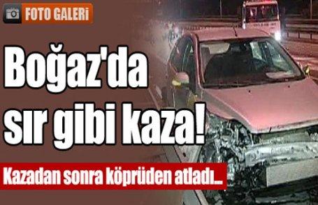 Boğaz'da sır gibi kaza!