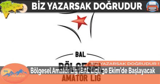 Bölgesel Amatör Lig (BAL Ligi) 30 Ekim'de Başlayacak