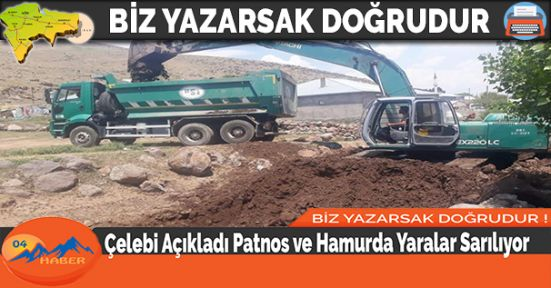 Çelebi Açıkladı Patnos ve Hamurda Yaralar Sarılıyor