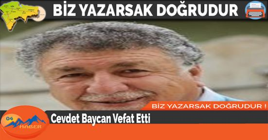 Cevdet Baycan Vefat Etti