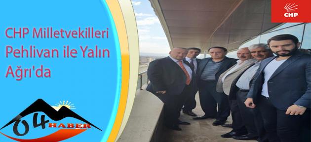 CHP Milletvekilleri Pehlivan ile Yalın Ağrı'da