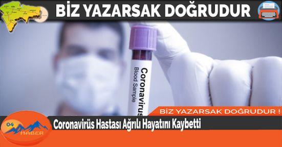 Coronavirüs Hastası Ağrılı Hayatını Kaybetti