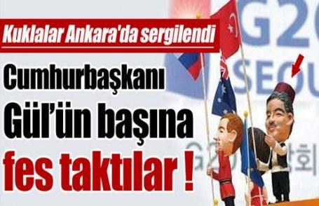 Cumhurbaşkanı Gül'e fes giydirdiler