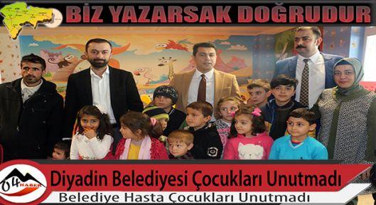 Diyadin Belediyesi hasta çocukları unutmadı