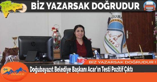 Doğubayazıt Belediye Başkanı Acar'ın Testi Pozitif Çıktı
