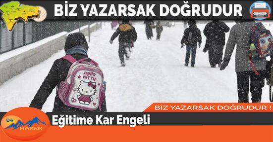 Eğitime Kar Engeli Okullar Bir Gün Tatil
