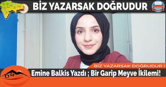 Emine Balkis Yazdı ; Bir Garip Meyve İkilemi!