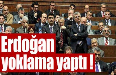 Erdoğan yoklama yaptı !