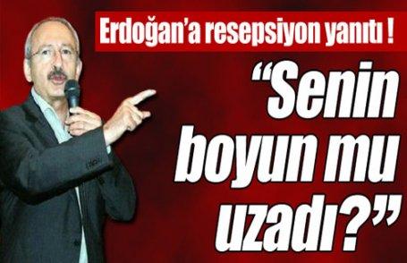 Erdoğan'a resepsiyon yanıtı !
