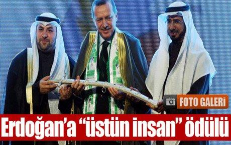 Erdoğan'a 'üstün insan' ödülü