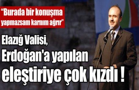 Erdoğan'a yapılan eleştiriye çok kızdı !