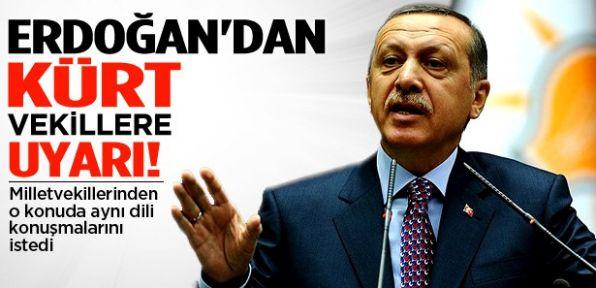 Erdoğan'dan Kürt vekillere uyarı!