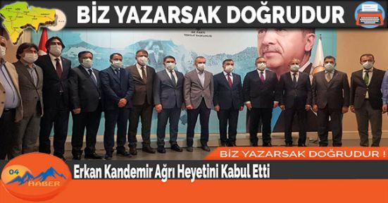 Erkan Kandemir Ağrı Heyetini Kabul Etti